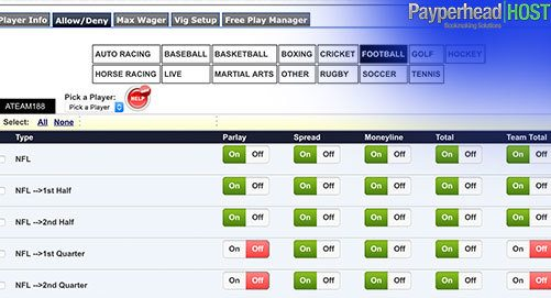allow deny betting lines from bookie software backend